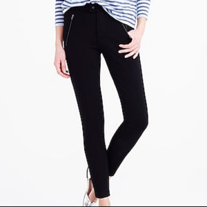 J.Crew Pixie snap front black pants size 8
